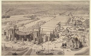 International Colonial and Export Exhibition - The exhibition terrain behind the Rijksmuseum, now Museumplein square