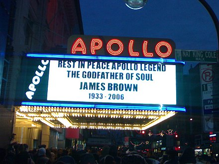 Public memorial at the Apollo Theater in Harlem JB Apollo Memorial.jpg