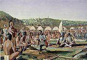 Jacques Cartier a Hochelaga