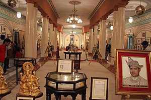Jai Vilas Mahal - Image: Jai Vilas Palace Night at the Museum (7)