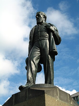 James FitzGerald (New Zealand politician) - Statue of FitzGerald, Cashel St, Christchurch