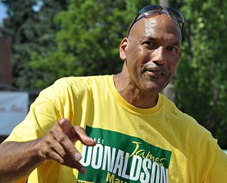 James Donaldson (basketball) - Donaldson during his 2009 race for Mayor of Seattle.