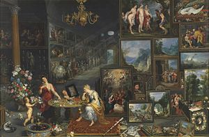 The Five Senses (pair of paintings) - The Senses of Sight and Smell, 1618; copy c. 1620