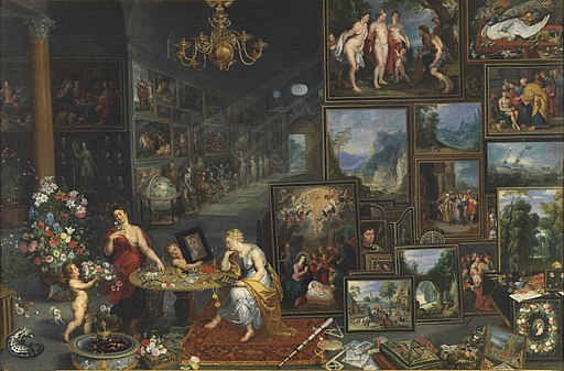 Jan Brueghel (I), Hendrick van Balen (I) and Gerard Seghers - Allegory of Sight and Smell