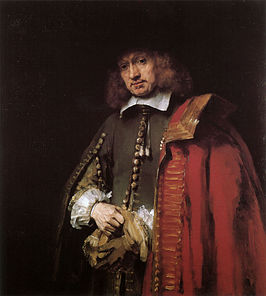 Portret van Jan Six door Rembrandt (1654)