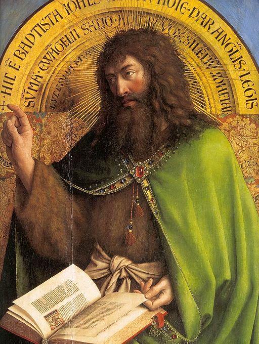 Jan van Eyck - The Ghent Altarpiece - St John the Baptist (detail) - WGA07634