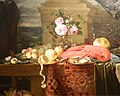 Jan van den Hecke I - Still Life with Lobster, Fruits and Roses (Museum of Fine Arts, Budapest).jpg