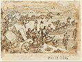 Jan van der Straet, called Stradanus - Sketchbook page- Pearl Fishing; recto, Diana - Google Art Project.jpg