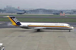 Japan Air System Flight 451 - A Japan Air System Douglas DC-9-41, similar to the one involved