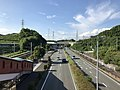 Japan National Route 3 from footbridge in front of Keyakidai Station (north).jpg
