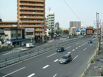 Japan National Route 6 - Route 6 at Yotsugi in Tokyo