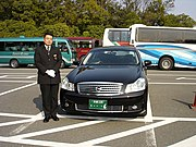 A chauffeur in Japan