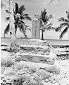 Japanese monument on Bikini Island with the USS CHILTON in background, summer 1947 (DONALDSON 21).jpeg