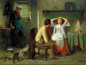 Jealousy and Flirtation, by Haynes King (1831-1904)