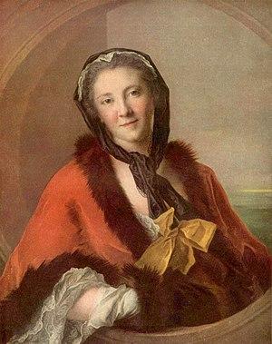 Ulla Tessin - La comtesse Tessin (1741) Paris, Musée du Louvre, portrait by Jean-Marc Nattier