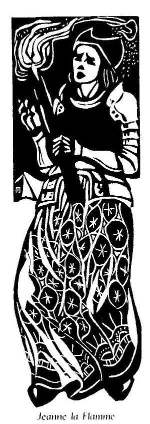 """Joanna of Flanders - """"Jeanne la Flamme"""", illustration to Histoire de Notre Bretagne by Jeanne Malivel."""