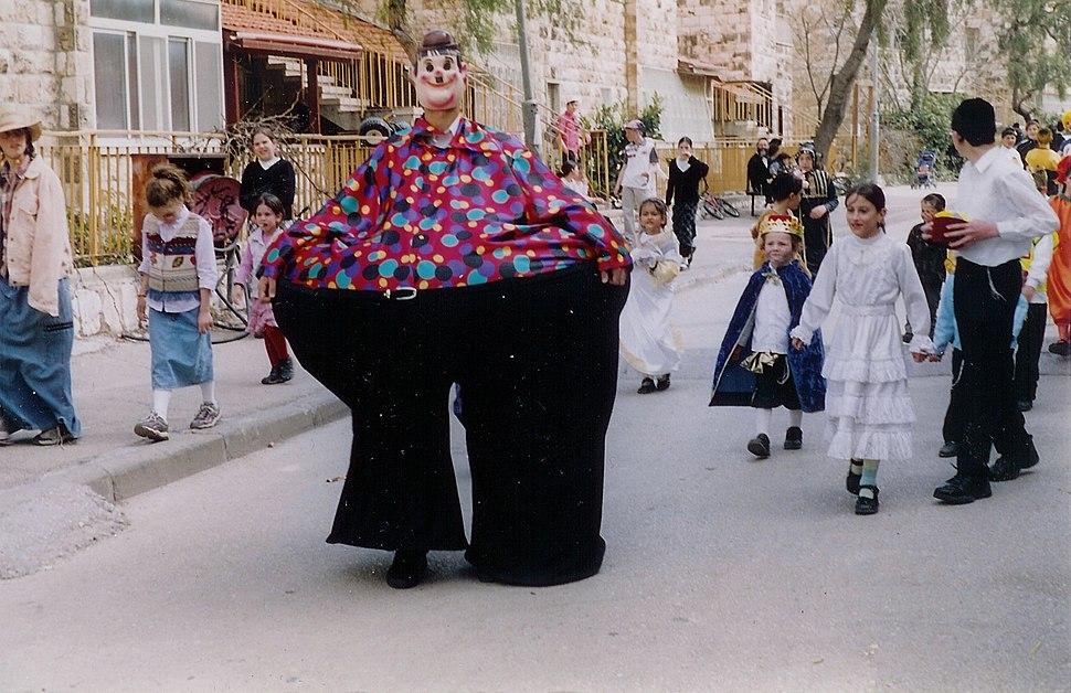 Jerusalem Purim street scene