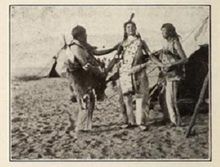 hiawatha film  jesse cornplanter center in hiawatha 1913