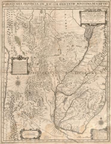 Karte der jesuitischen Provinz Paraguy von Giovanni Petroschi S.J., 1732.