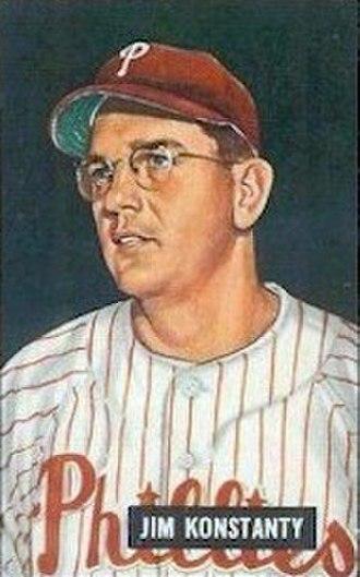 Jim Konstanty - Konstanty's 1951 Bowman Gum baseball card