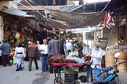 Covered market in the old town of Jisr ash-Shugur