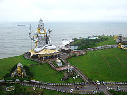 World's Second Tallest Statue of شیو at Murdeshwar