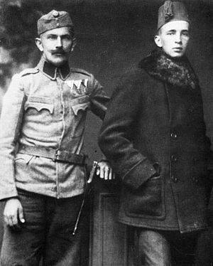 Johan Fabricius - Fabricius (right) at the Italian front (1915)