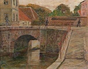 Toldbroen i Ribe, set fra skibbroen