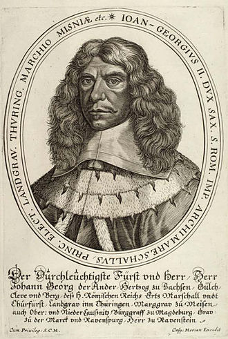 John George II, Elector of Saxony - John George II, picture from 1658.