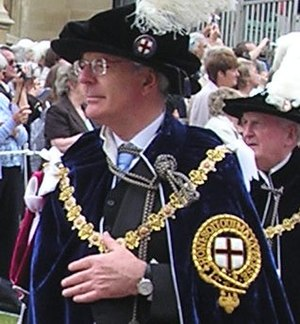 Norma Major - Husband Sir John Major wearing his robes in 2006
