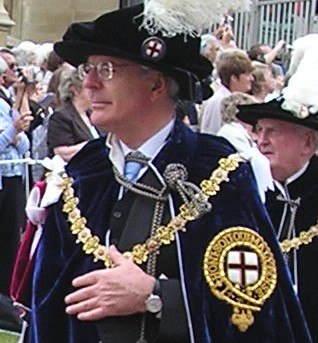 John Major in Garter procession