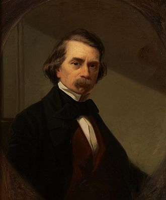 John Mix Stanley - Oil on canvas self-portrait, c. 1860