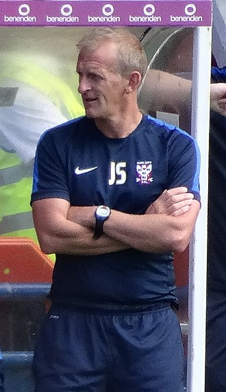 John Schofield (footballer) - Schofield as assistant manager of York City in 2015