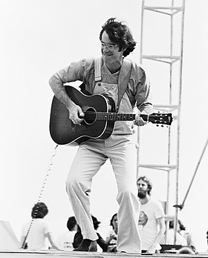 John Sebastian - Performing at the Woodstock Reunion 1979 at Parr Meadows in Ridge, New York