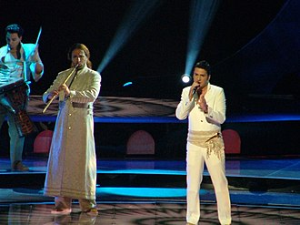 "Željko Joksimović - Joksimović performing ""Lane Moje"" for Serbia and Montenegro in ESC 2004. Istanbul, Turkey."