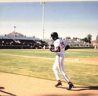 Jordan in training with the Scottsdale Scorpions in 1994 Jordan Scorpions.jpg