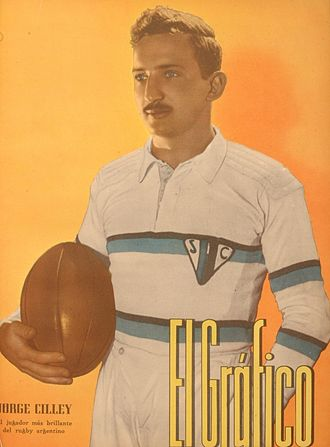 San Isidro Club - Jorge Cilley, the most representative player of the team that won its first championship in 1939.