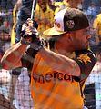 Jose Altuve takes batting practice on Gatorade All-Star Workout Day. (28377676120).jpg