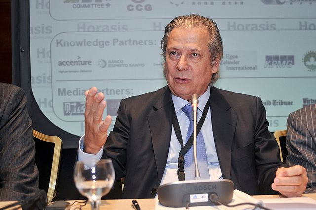 Jose Dirceu, former minister for trade By Richter Frank-Jurgen [CC-BY-2.0 (https://creativecommons.org/licenses/by/2.0)], via Wikimedia Commons