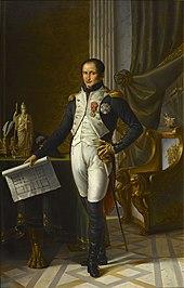 Retrato colorido de Joseph Bonaparte em uniforme completo