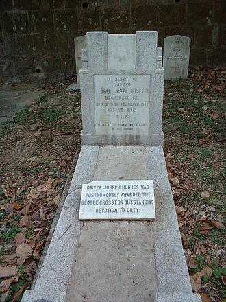 Hong Kong Cemetery - Image: Joseph Hughes grave in the Hong Kong Cemetery