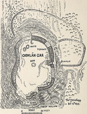 Thomas Johnson Westropp - Plan of Cashlaungarr by Westropp (1913)