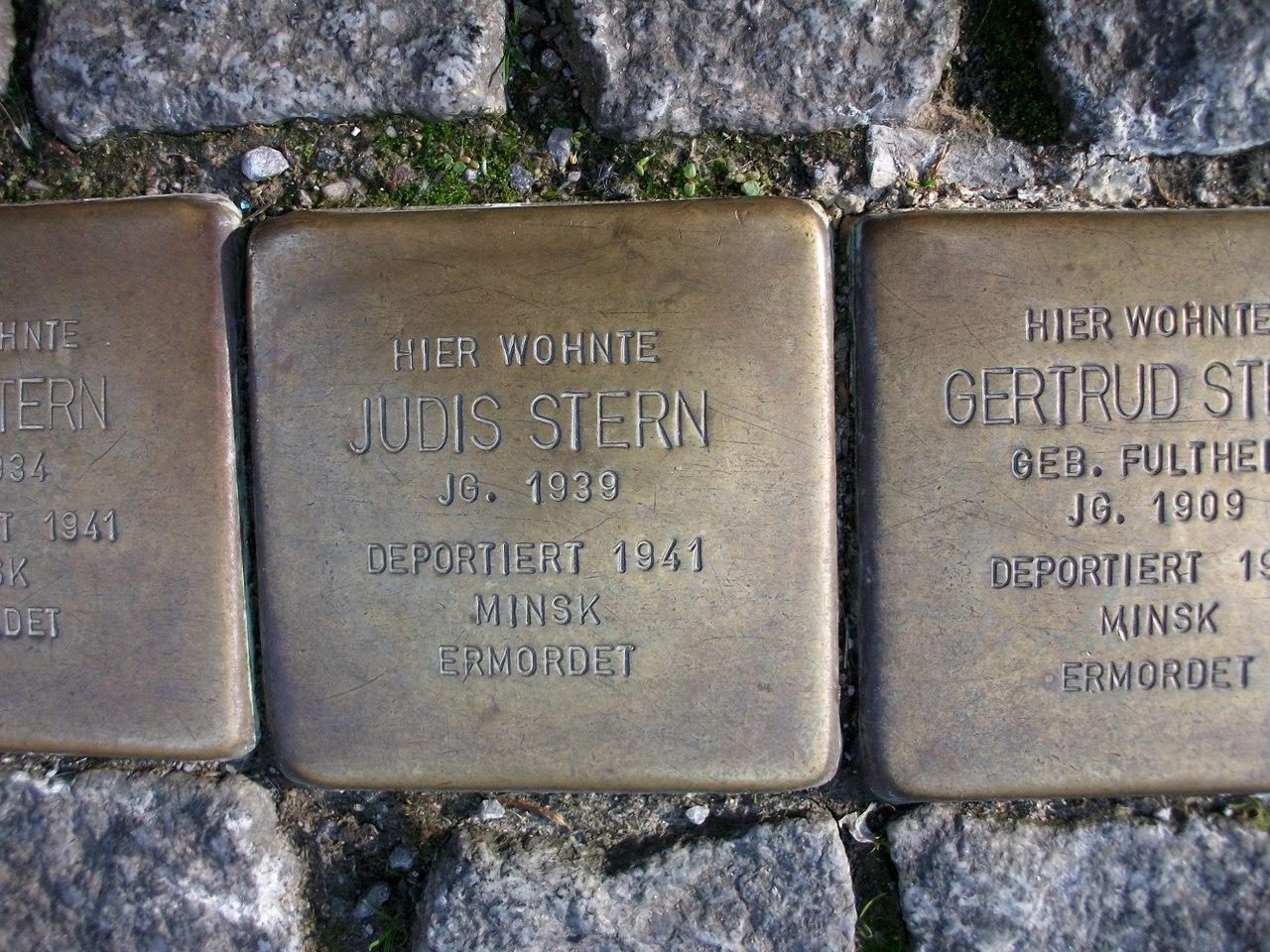 Stolperstein für Judis Stern