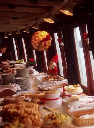 """Smörgåsbord - Julbord for """"Gustavsberg VII"""" in 1990"""