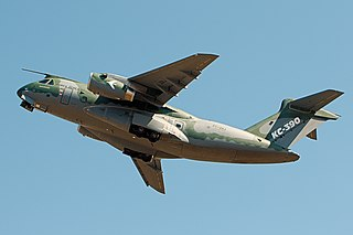 kc-390 in flight.