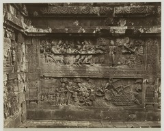 KITLV 19522 - Kassian Céphas - Reliefs at Borobudur in Central Java - 1901-05.tif