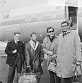 KRO documentaireploeg Spanje uitgewezen, aankomst op Schiphol v.l.n.r. Daniel de, Bestanddeelnr 917-5779.jpg