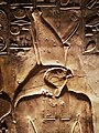 KV17, the tomb of Pharaoh Seti I of the Nineteenth Dynasty, Chamber I (so-called Room of Beauties), detail of Horus, Valley of the Kings, Egypt (49845804198).jpg