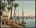 Kairo, le Pont du Nil et Caserne Anglaise LCCN2017657707.jpg