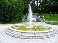 Kamyanets-Podilsky Khmelnytska-park-Shevchenko street-fountain.jpg